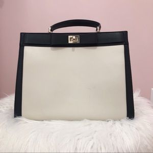 Kate Spade White and Black Handbag